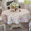 Printing PEVA Tablecloth with 2 Inch Lace Border