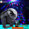 3W RGB Crystal Magic Rotating Ball Remote Control LED Magic Ball Lights for KTV Xmas Party Club Pub Disco DJ