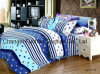 Printed Quilted Pigment Printing Microfiber Bedspread/Bedding Set