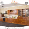 Popular and Simple White Solid Wood Kitchen Cabinet