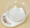 Electronic Kitchen Weight Scale with Transparent Bowl