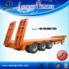 3 Axles Heavy Equipment Transport Semi Trailer with Foldable Ladders