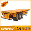 3 Axle Semi Trailer Flatbed Container Trailer for Sale