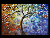 Abstract Landscape Tree Oil Painting (LA1-001)