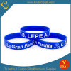 High Quality Debossed Logo Enamel Infilled Silicone Wristband From China