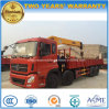 4 Axles Dongfeng Heavy Duty 8X4 Crane Loading Truck Mounted with Crane