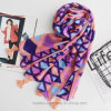 Geometic Printed Thin Beach Women Scarf with Tassels (HMW03)
