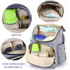 Wholesale Gray Diaper Bag Backpack with Stroller Straps for Baby