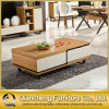 Modern Top Marble Coffee Table with Drawer (8629#)