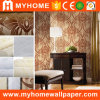 Warm Color Interior Decorative Non Woven Wallpaper Flocking