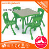 4 Seats Green Potter Table Plastic Learning Table for Creche
