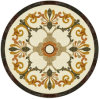 Round Shape Water Jet Marble Medallion Pattern