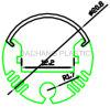 Acrylic Diffuser for Round LED Aluminum Profile