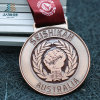 Bespoke Zinc Alloy Custom Bronze Metal Emboss Karate Medal for Austrilia