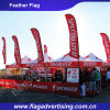 Durable Leather Protecting Custom Event Feather Flag, Display Feather Banner