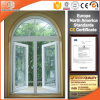 Heat-Insulation Aluminum Casement Window with Top Fixed Circle, Arch Design Aluminum Fixed Window