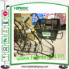 Double Supermarket Basket Trolley Cart