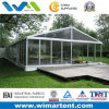8X15m Tempered Glass Wall Party Tent with Wooden Floor