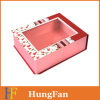 Cardboard Gift Foldable Folding Paper Box with PVC Window