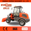 Everun Agricultural Machines 1.2 Ton Mini Wheel Loader with Grapple Bucket