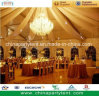 Luxury Romantic Wedding Party Tent with Magnificent Crystal Chandelier