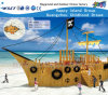 Wooden Ship Adventure Playground with Slide for Kids Wooden Role Play Hf-16802