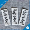 Organic Cream Color Fabric Cotton Clothing Labels for Jeans