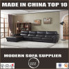 L Shape Leather Couch with Black Color