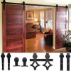 Barn Door Hardware Set for Sliding Wood Door, Antique Industrial Hardware Sliding Barn Door Wheel