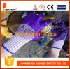 Ddsafety 2017 13 Gauge Zebra Purple Mixed White Nylon Liner Purple Nitrile 3/4 Coating Gloves