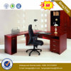 Mahogany Color L Shape Manager Office Desk (HX-5N022)