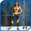 Women Sportswear Workout Suit Hot Sales Ladies Yellow Color Match Fashion Sexy Yoga Suit