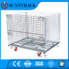 Stackable Galvanized Warehouse Storage Wire Mesh Container