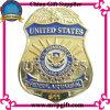 Metal Police Badge with 3D Logo Engraving (m-B08)