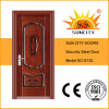 Hot External Stainless Iron Main Steel Door with Handle (SC-S135)