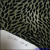 Glitter Lace Flocking Leather Fabric for Upholster and Shoes