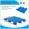 Warehouse Products Plastic Tray 1100*1100*140mm Flat Big 9 Feet HDPE Plastic Pallet for Transport (with 4 steel tubes)