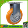 Hand Trolley Industrial Castor Elastic PU Aluminum Wheel