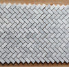 Fishbone Shaped Cararra White Marble Mosaic Tiles Backsplash Kitchen Wall Tile