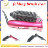 New Design Hair Styling Brush Iron Hair Comb Electric Folding Brush Irons Portable for Travel