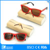Innovative Clear Frame Travel Eyewear Bamboo Sunglasses with Case