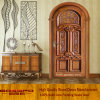 Luxury Carved Round Top Wood Arched Entry Door (GSP2-038)