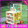 2016 New Design Multi-Function Wooden Baby Walker Toy W11b128