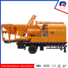 Hydraulic Concrete Batch Mixer Pump with 100kw Commins Generator