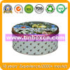 Round Tin Box for Festival, Gift Tin, Metal Gift Box