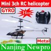 New Model 20cm Mini Metal 3 CH RC Helicopter, R/C Toy, Airplane Radio Control Plane With Flashlights (HNL-2759-10)