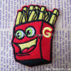 Custom Fashion Hamburger Chips Embroidery Patches for Garment Decoration Accessories
