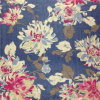 5m/M Silk Paj Print in Flower Pattern