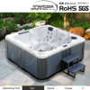 Chinese Quality Clear Acrylic Drop-in Bathtub Jy8016 Whirlpool Bubble Massage