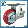 "8""Heavy Duty Single Springs PU Rigid Shockproof Caster Wheel"